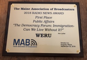 2018 Radio News Award: WERU