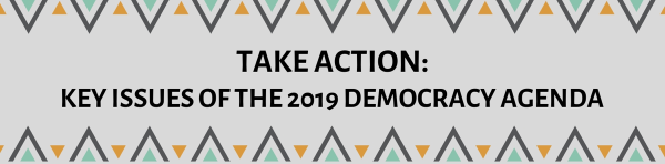 Take Action: key issues of the 2019 Democracy agenda